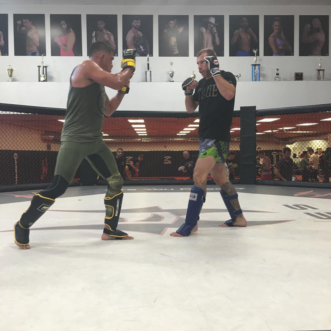 The gym is plastered with photos of UFC fighters