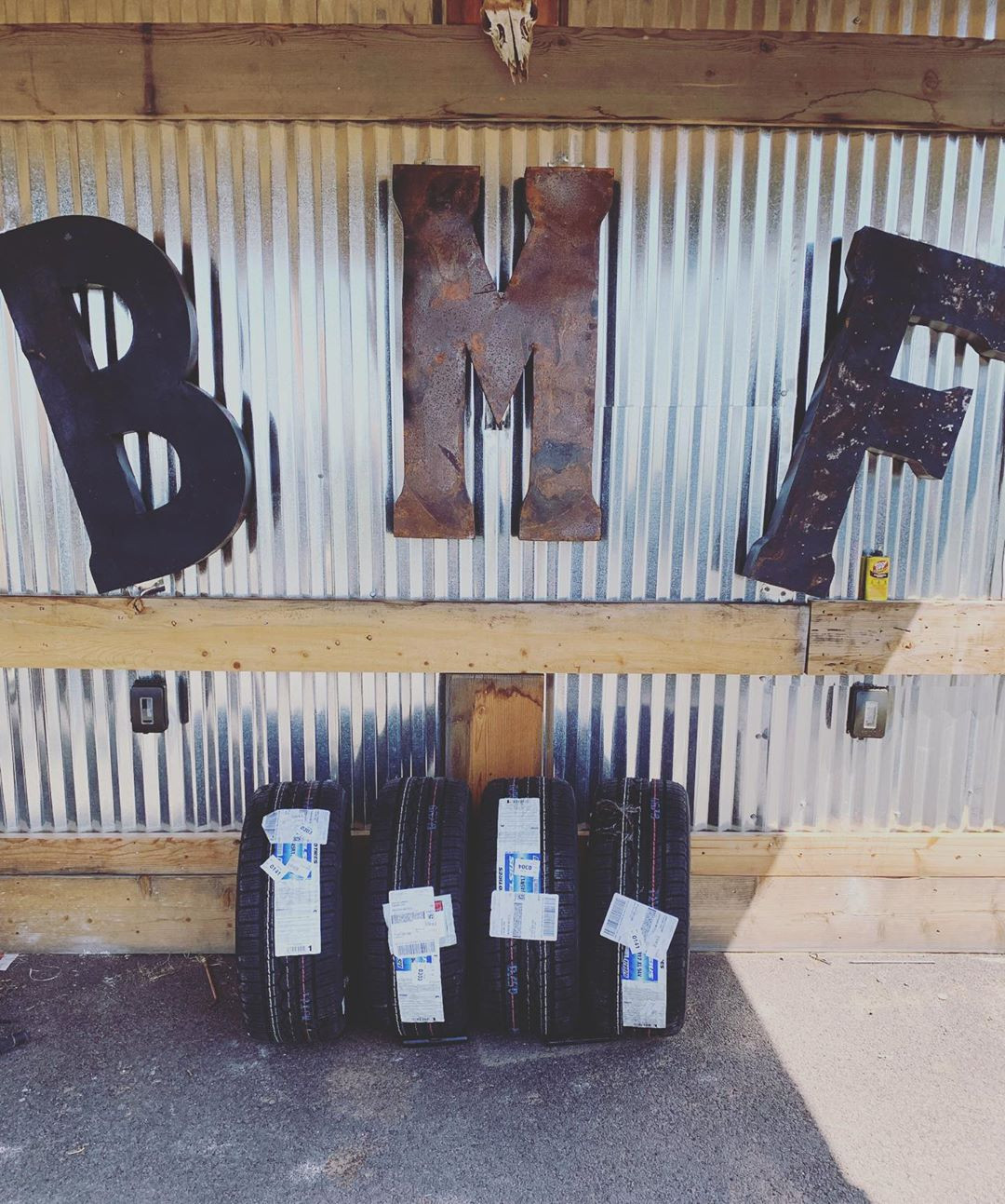 The BMF sign at the ranch which Donald 'Cowboy' Cerrone has built himself