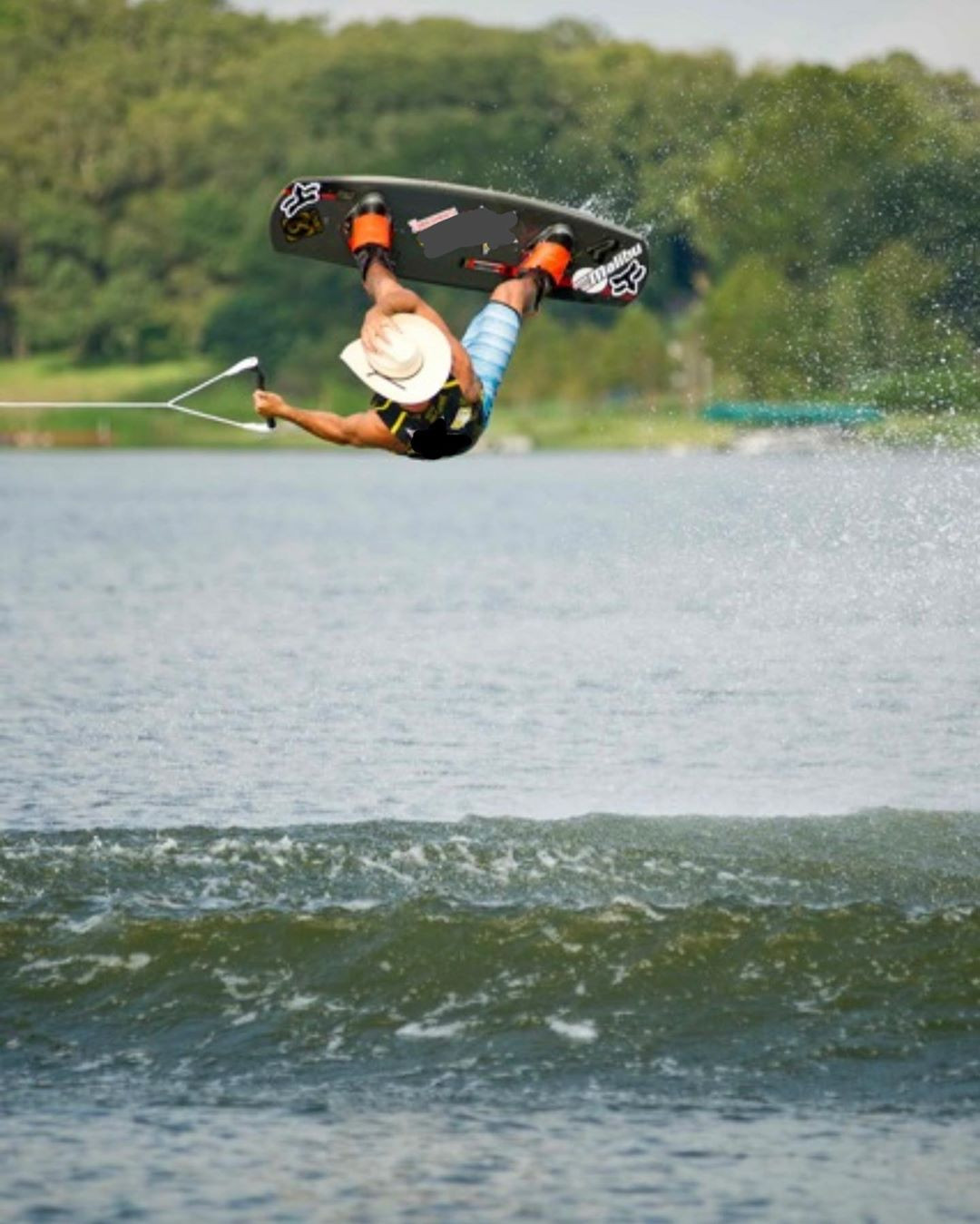 Donald Cerrone enjoys wakeboarding at a nearby lake