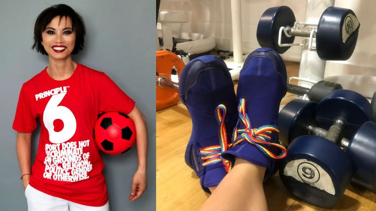 As a Stonewall Sports Champion, LeThi is helping to take the Rainbow Laces message into the British Asian community