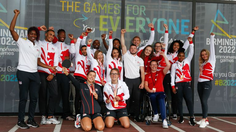 Team England athletes gathered in Birmingham last summer to mark the countdown to the 2022 Commonwealth Games