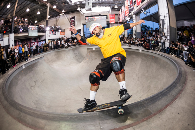 Steve Caballero: showing off his signature Vans shoes in 2015   Photo: Red Bull