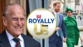 Prince Philip, Duke of Edinburgh, Prince Harry, Meghan Markle are posing for a picture