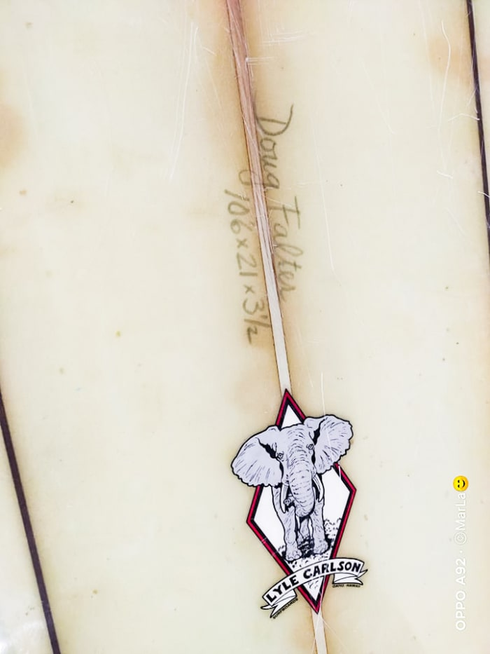 Falter's board: carved by Carlson and rescued by Branzuela.