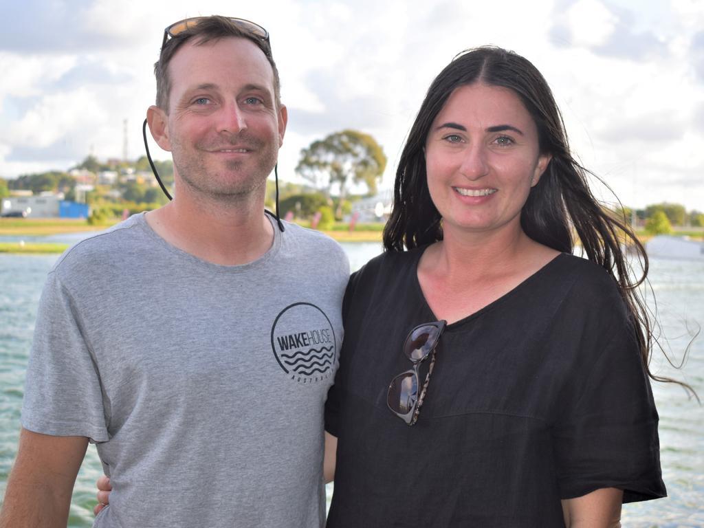 Wakehouse Cable Park owners Dan and Amanda Probert (nee Pelagalli). Picture: Heidi Petith
