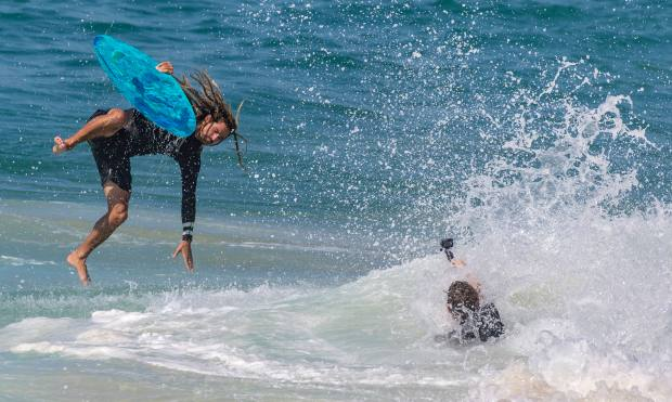 Heat wave hits, but beware of big surf, rip currents if hitting the beach – OCRegister