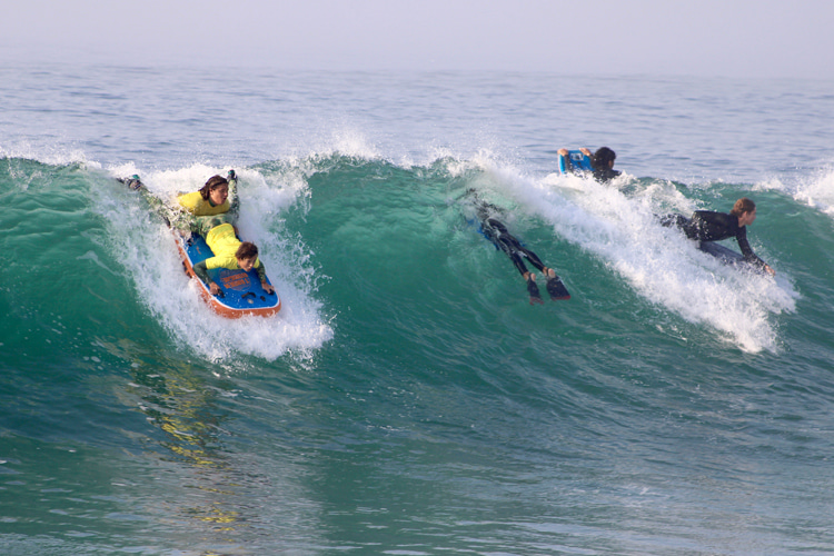 Tandem bodyboarding: one of the four divisions of the inaugural Shred The Web competition | Photo: Tandem Boogie