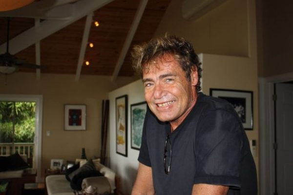Michael Tomson in his home on the North Shore.