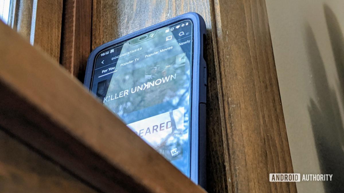 Hulu app open on a OnePlus 6